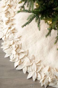 Arcadia Home Hand-Felted Flower Tree Skirt