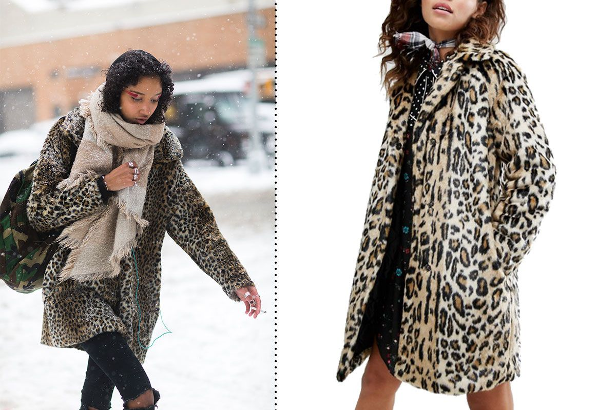 H! By Henry Holland Leopard Faux Fur Coat