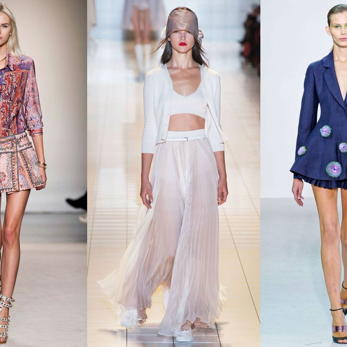From left: new looks from Isabel Marant, Rochas, and Dior.