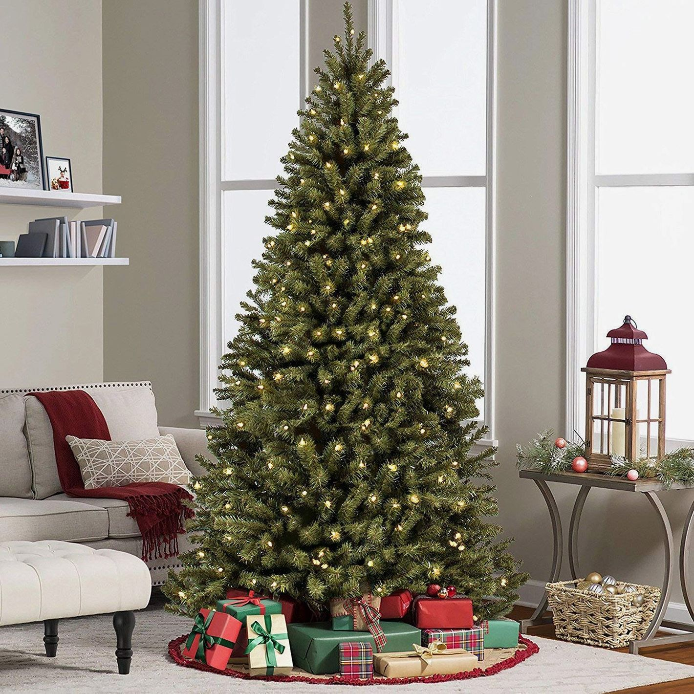Best Choice Products 6ft Pre-Lit Spruce Hinged Artificial Christmas Tree