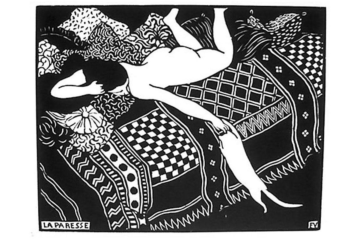 """""""La Paresse"""" by Felix Valloton"""