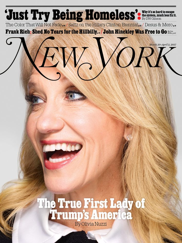 kellyanne conway on the cover of 39 new york 39 magazine new york media press room. Black Bedroom Furniture Sets. Home Design Ideas