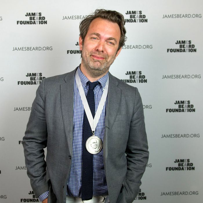 Sachs, with one of his many Beard awards.