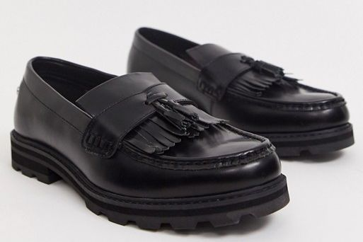 Ben Sherman Chunky Loafer in Black