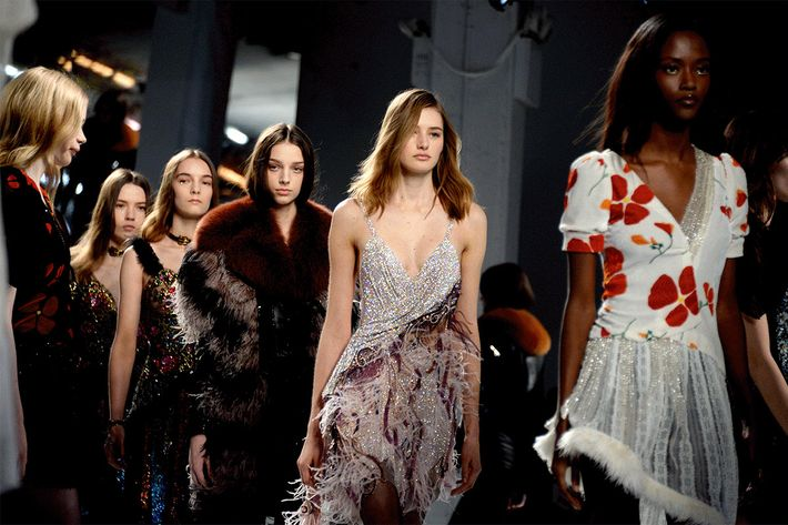 Models walk the runway at Rodarte. (Photo: Clint Spaulding.)