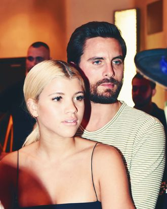 Sofia Richie and Scott Disick.