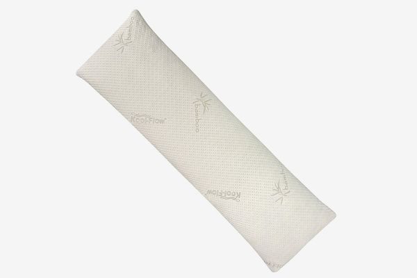 Snuggle-Pedic Bamboo Shredded Memory Foam Body Pillow with Kool-Flow Outer Fabric