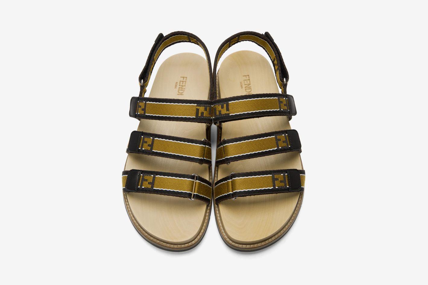 Fendi Brown 'Forever Fendi' Sandals
