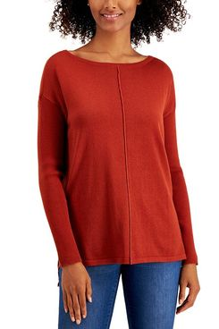 Style & Co Seamed Cotton Tunic