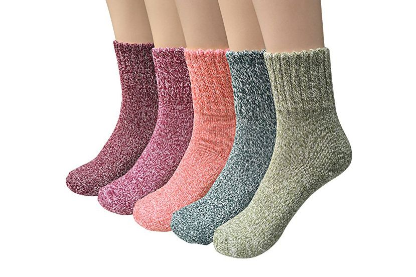 Ysense Thick-Knit Casual Wool Winter Socks