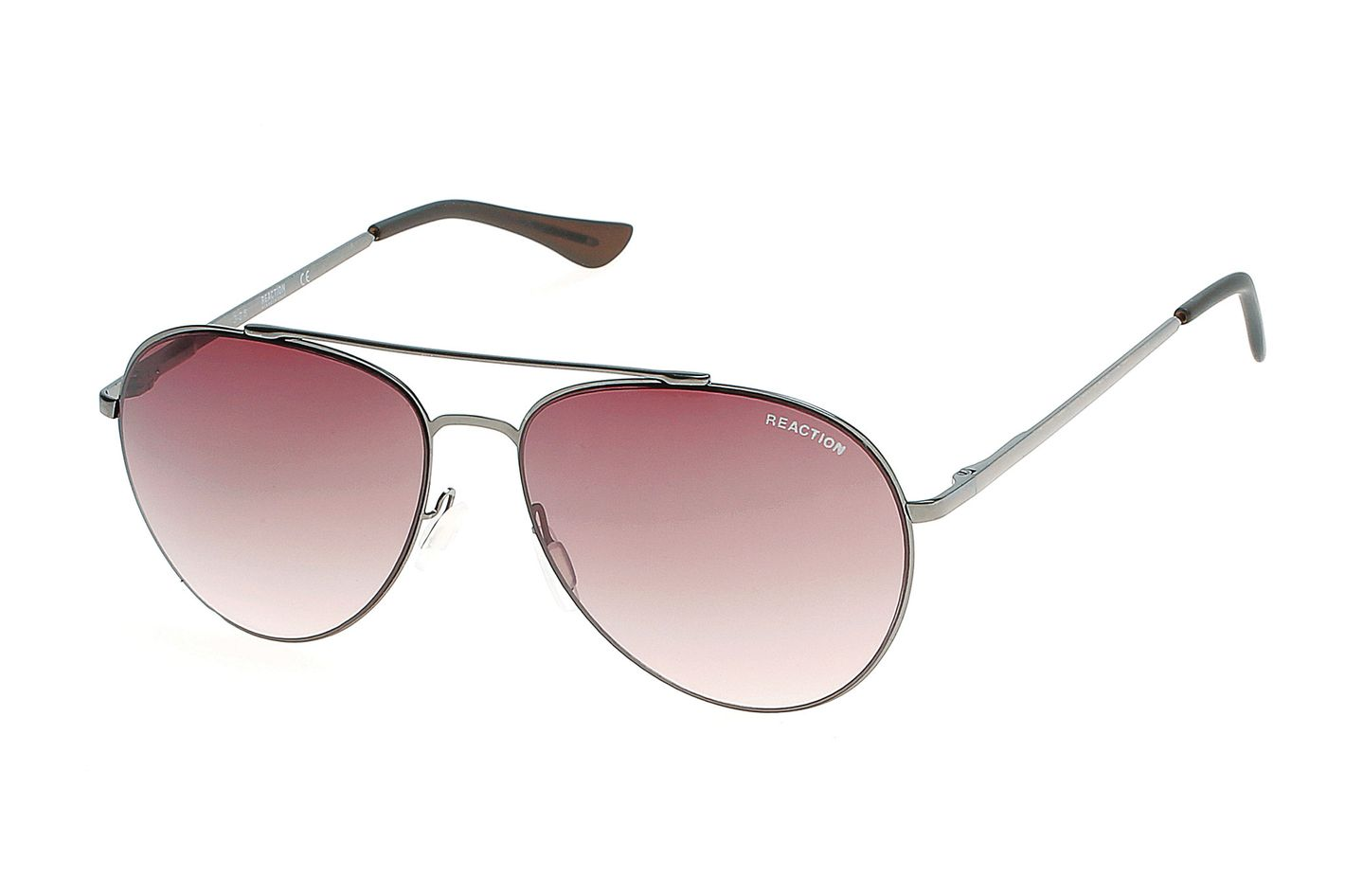 Gradient Smoke Gunmetal Aviator Sunglasses