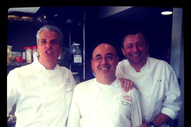 Reginensi, with chef buddies.