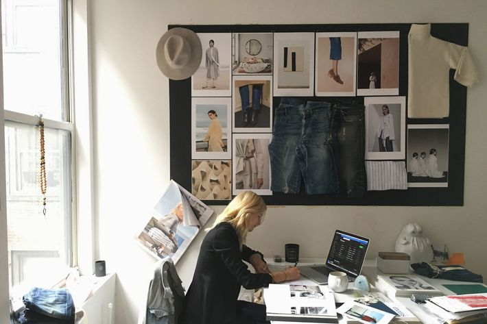 Jac Cameron's office and desk at Ayr in Soho - strategist best home decor and best desk decor