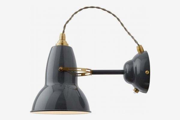 Anglepoise Original 1227 Brass Wall Light, Elephant Grey