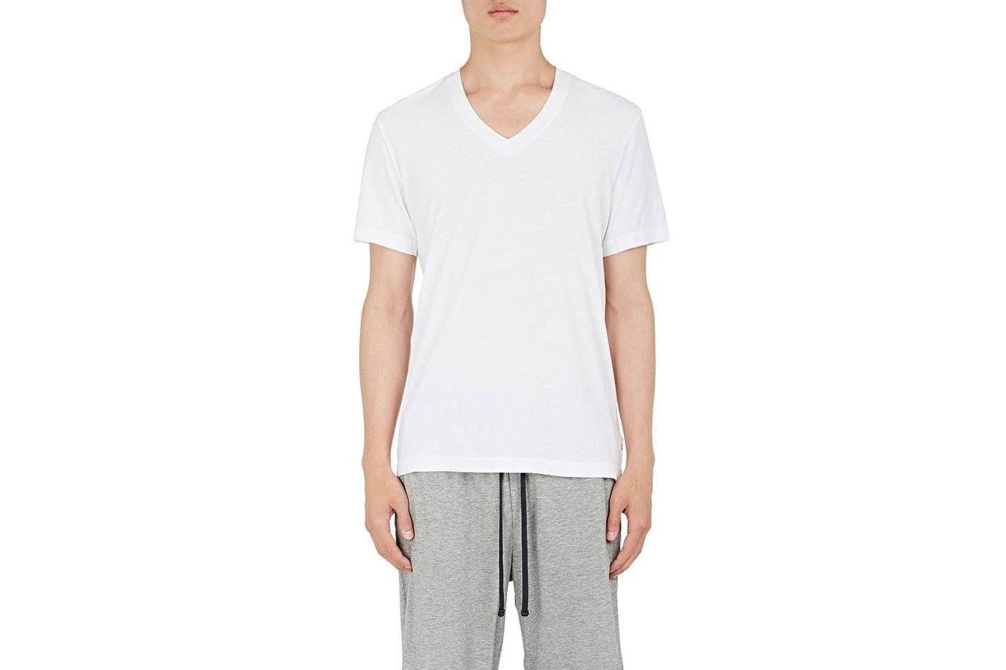 30e1554d82b50 James Perse White V-Neck T-shirt at Barneys New York