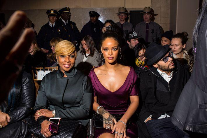 Mary J. Blige and Rihanna at Zac Posen.