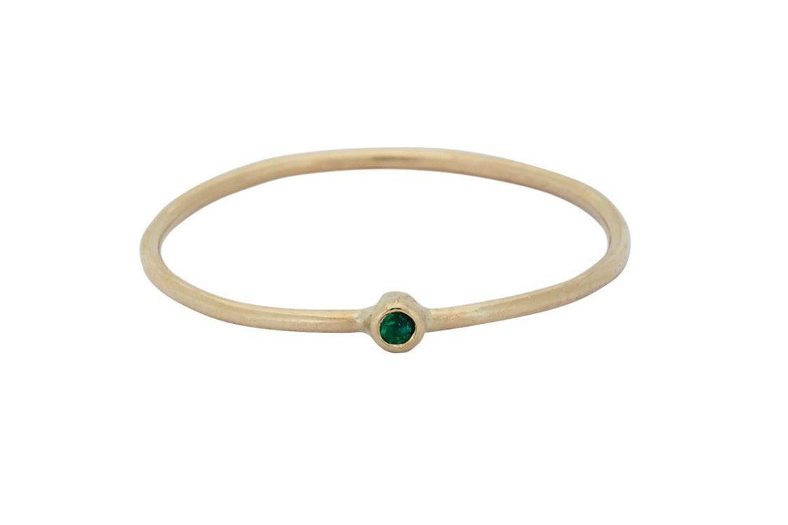 Jennifer Meyer Gemstone Thin Ring