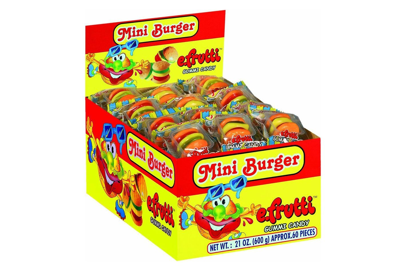 eFrutti Mini Burger Gummy, 60 Pack