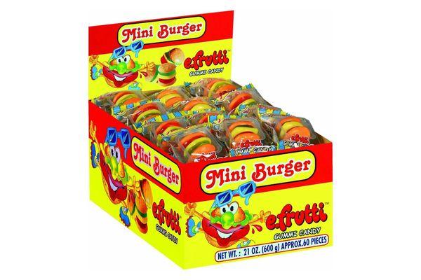 eFrutti Mini Burger Gummy Candy