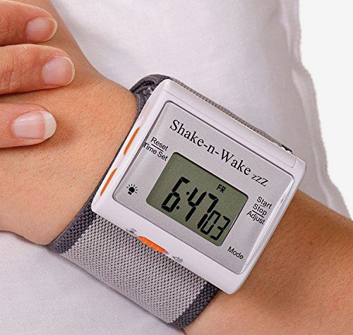 Tech Tools Shake-N-Wake Silent Vibrating Personal Alarm Clock