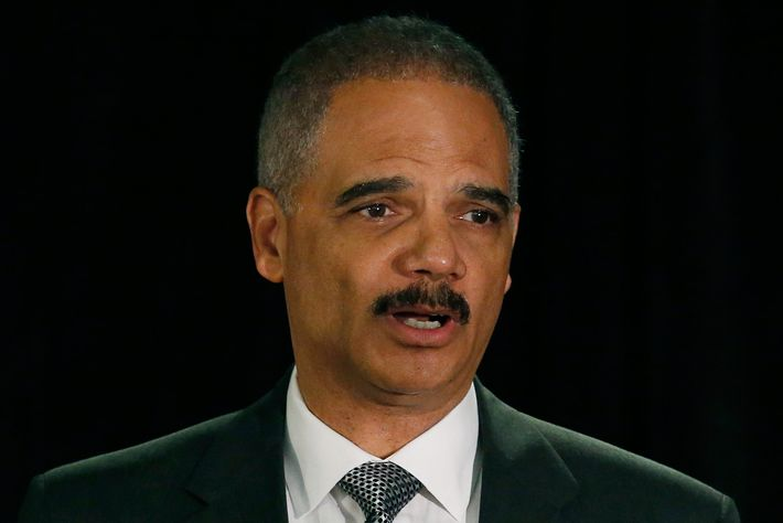 05 May 2014, Washington, DC, USA --- United States Attorney General Eric Holder speaks at the National Association of Attorneys General in Washington May 5, 2014. REUTERS/Gary Cameron (UNITED STATES - Tags: POLITICS CRIME LAW) --- Image by ? GARY CAMERON/Reuters/Corbis