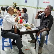 Here's What Bourdain Learned by Eating Noodles With President Obama