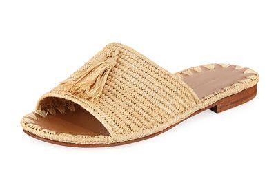 Carrie Forbes Adam Woven Raffia Slide Sandal