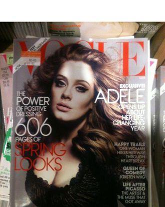 Adele's <em>Vogue</em> cover.