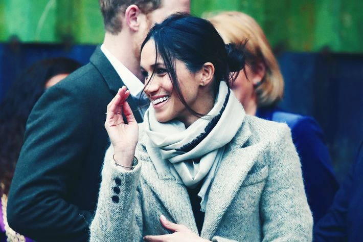 Meghan Markle and her hair bun.