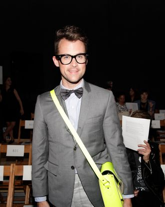 Brad Goreski at Band of Outsiders today.