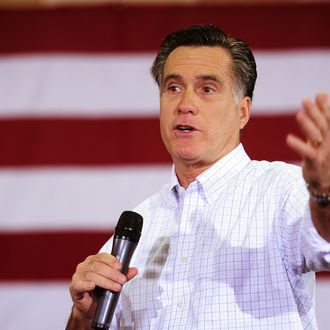 Republican presidential hopeful Mitt Romney speaks during a campaign rally in Florence, South Carolina, January 17, 2012.