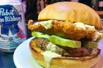 This 'Fried' Pabst Blue Ribbon Burger Requires Valid ID