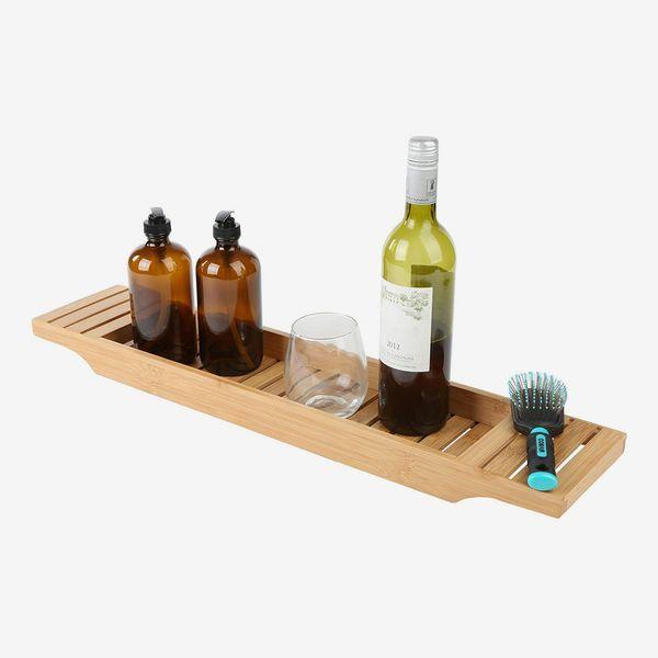 Mind Reader Bamboo Bathtub Tray