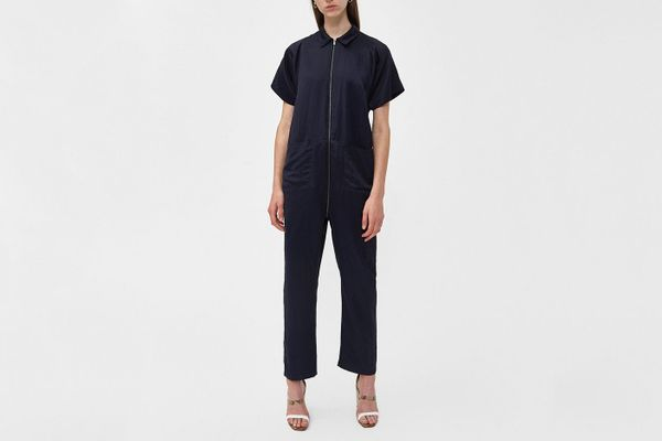 Rachel Comey Barrie Short-Sleeve Jumpsuit