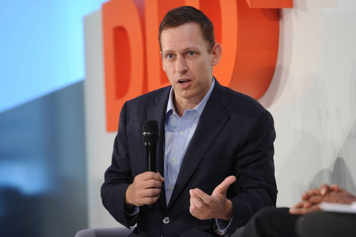 Peter Thiel (The Founders Fund) speaks on the podium during the Digital Life Design (DLD) Conference at the HVB Forum on January 22, 2013 in Munich, Germany. DLD is an international conference and culture which connects new media, business and social leaders, opinion formers and investors for crossover conversation and inspiration.