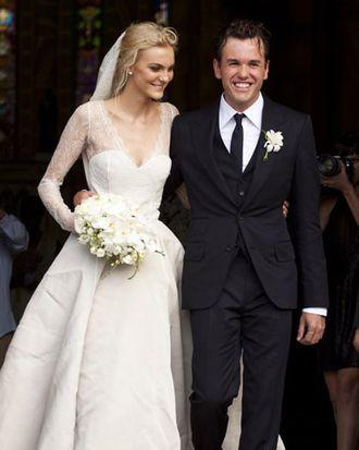 Caroline Trentini and Fabio Bartelt.