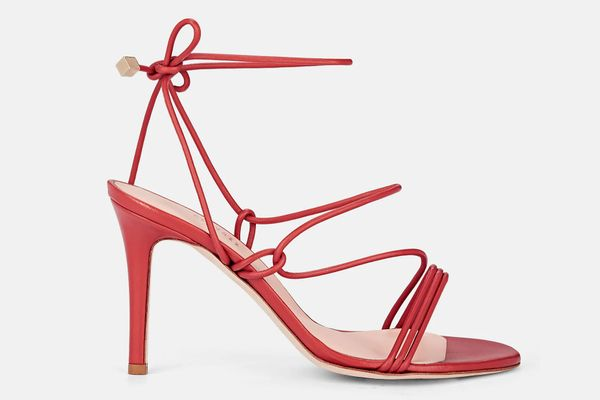 Barneys New York Arese Leather Ankle-Tie Sandals