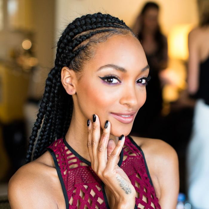 Jourdan Dunn prepares for the Met Gala.