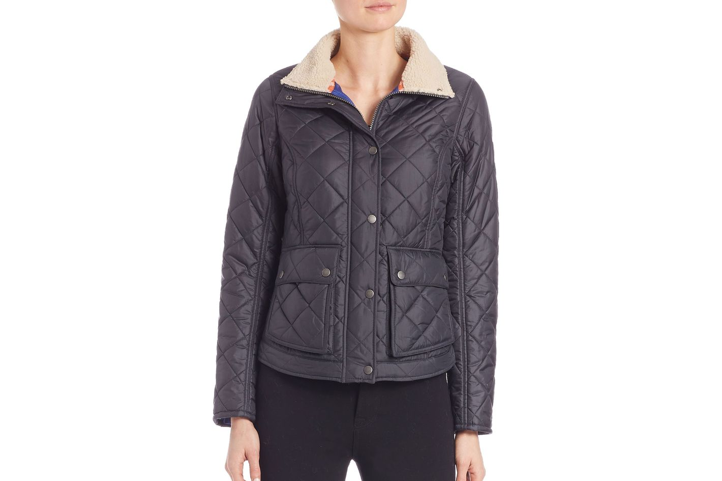 Barbour Cushat Faux-Fur Collar Quilted Jacket