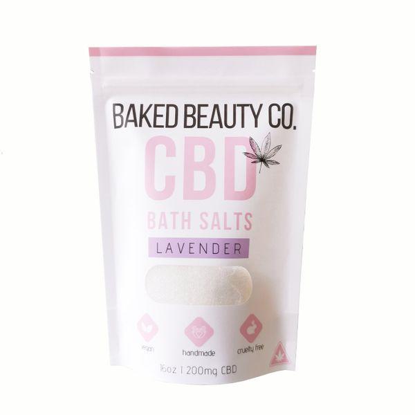 Baked Beauty Co. Lavender Bath Salts, 200 mg
