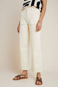 Anthropologie Anja Twill Carpenter Pants