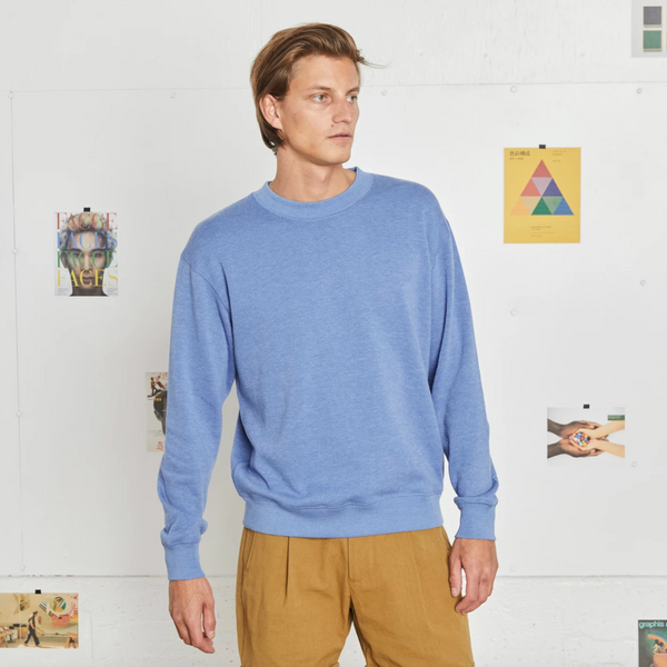 Entireworld Loop Back Sweatshirt in Amparo Blue