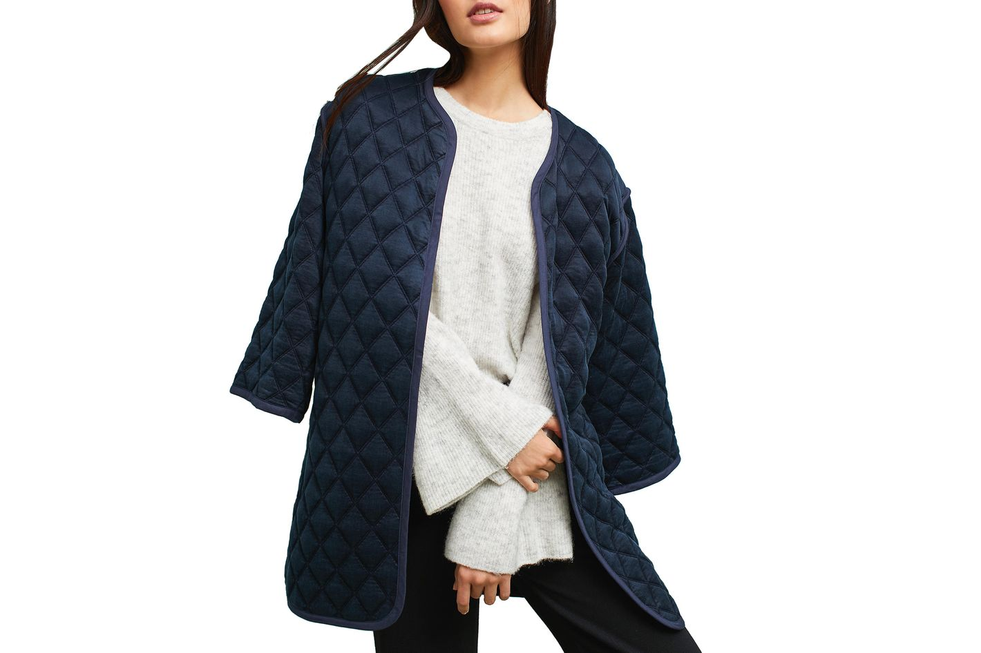 34N 118W Shelly Quilted Car Coat