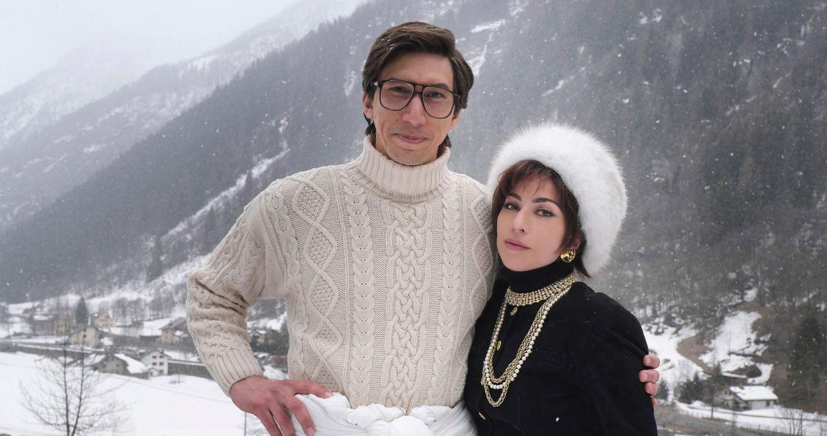Adam Driver and Lady Gaga Ski in House of Gucci: PHOTO
