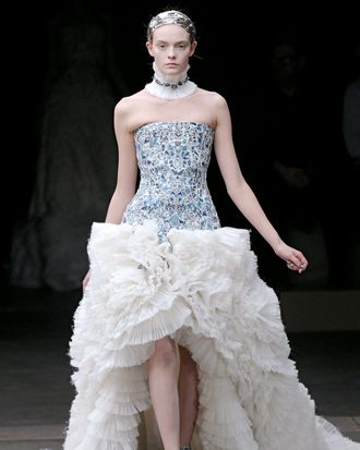 A lacy look from the fall 2011 McQueen collection.