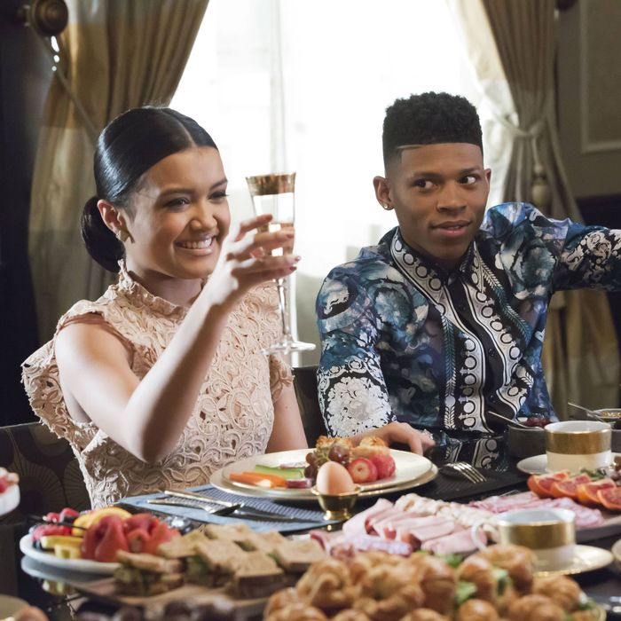 EMPIRE: Pictured L-R: Guest star Jamila Velazquez and Bryshere Gray in the