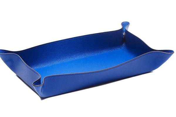 Pinetti Rectangular Valet Tray — Electric Blue