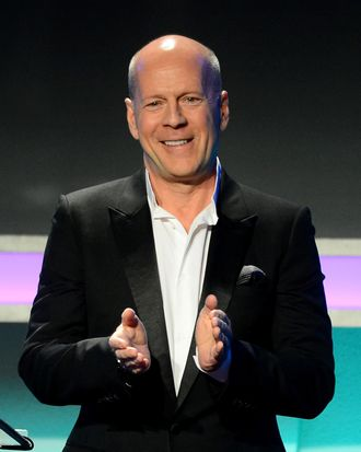 BEVERLY HILLS, CA - DECEMBER 12: Actor Bruce Willis speaks onstage during the 27th American Cinematheque Award honoring Jerry Bruckheimer at The Beverly Hilton Hotel on December 12, 2013 in Beverly Hills, California. (Photo by Mark Davis/Getty Images)