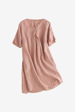 Mordenmiss Women's Linen Tunic Dresses