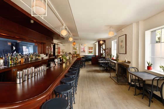 Matthew Maddy and Nico Arze of American Construction League designed and built the space.
